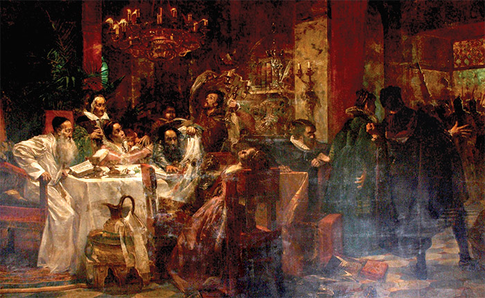 The Marranos by Moshe Maimon, 1893, shows a Spanish family's secret Seder.