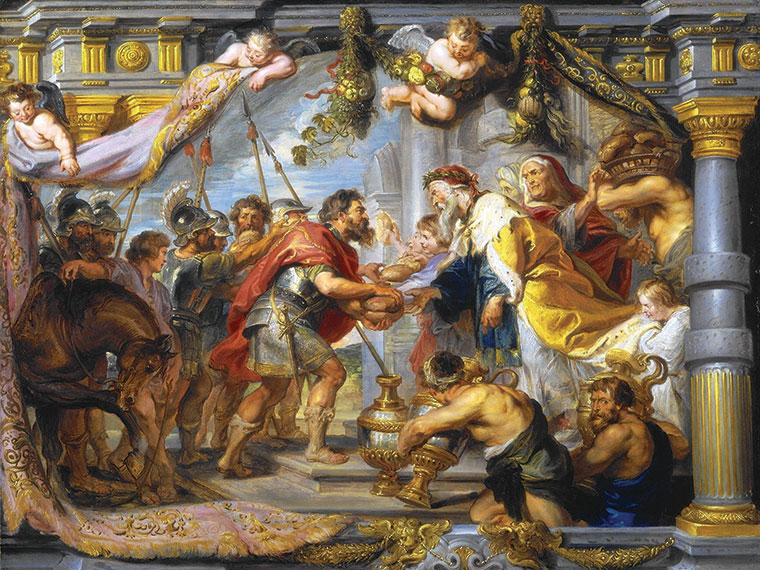 The Meeting of Abraham and Melchizedek by Peter Paul Rubens, ca. 1625. (Courtesy of the National  Gallery of Art.)