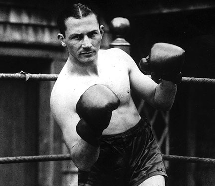 American lightweight boxer Benny Leonard, 1925.