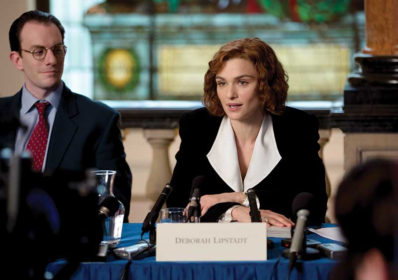 Rachel Weisz stars as acclaimed writer and historian Deborah E. Lipstadt. (Courtesy of Laurie Sparham/Bleecker Street.)