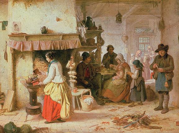 Coffee Time by Eduard Gustav Seydel, mid-1800s. (©Roy Miles Fine Paintings/Bridgeman Images.)