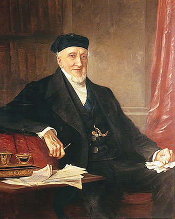 CSir Moses Montefiore with coffee by an unknown artist, ca. mid-1800s. (Ramsgate Library, UK.)