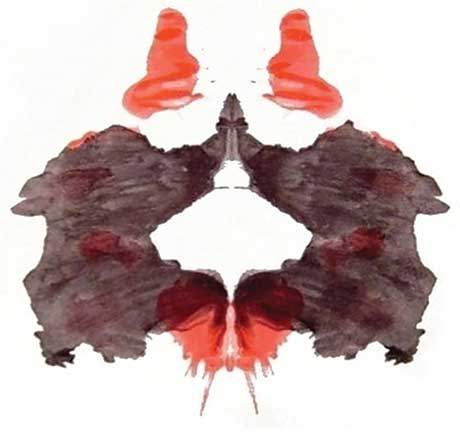 One of the Rorschach ink-blot tests given to the Nuremberg defendants in an attempt to understand their mentality.