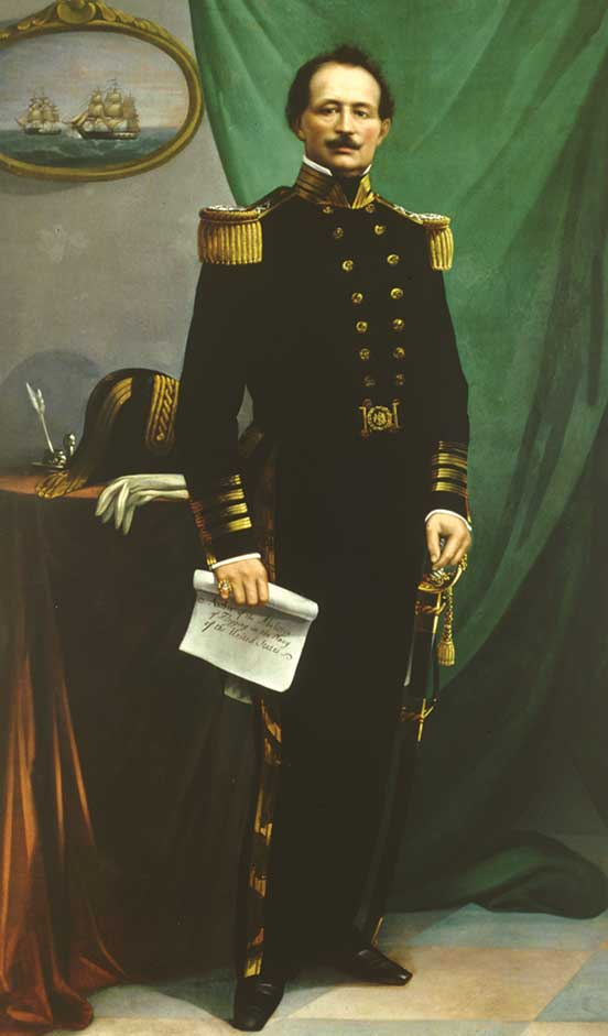 Commodore Uriah Phillips Levy, USN, by an unknown artist, ca. 1859–1860. (Courtesy of the United States Naval Academy Museum.)