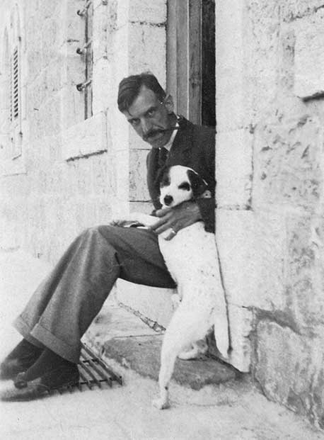 Austen St. Barbe Harrison with Bogie, Jerusalem, ca. 1920–1930. (Courtesy of the IAA/Library of Congress.)