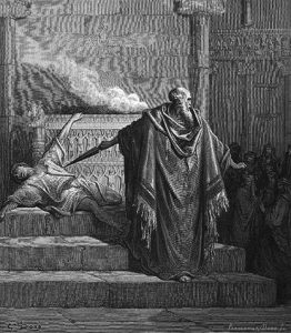 Mattathias Slays the Apostate, Gustave Dore Bible illustrations, 1865.