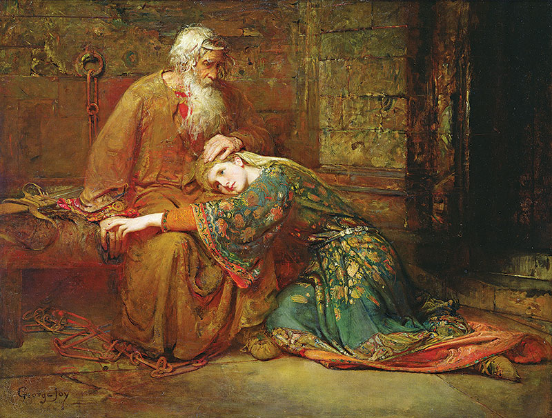 Painting of Cordelia Comforting her Father, King Lear, in Prison.