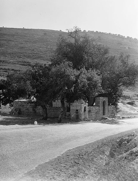"Photograph of ""The Gate of the Ravine"" on the Tel Aviv–Jerusalem highway"