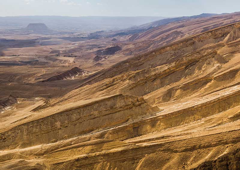 Arid and barren landscape in the Arava Valley, Negev Desert