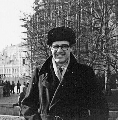 Photo of the author's father, Billy, in Moscow