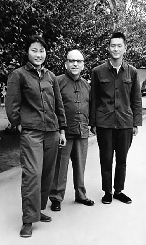 "Photo of Israel ""Eppy"" Epstein and his two Chinese children"