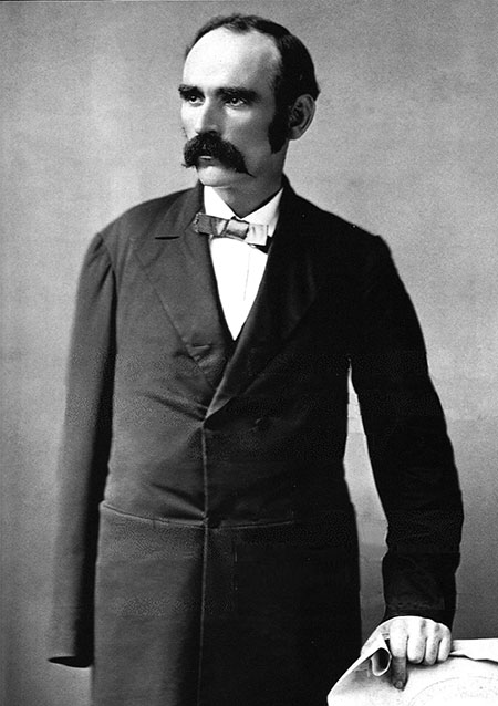 Black and white photograph of Michael Davitt