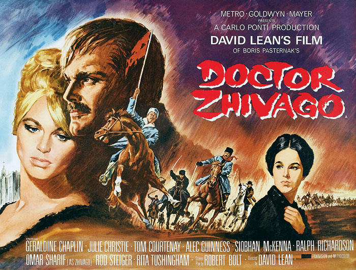 Poster advertising the movie Doctor Zhivago, 1965.