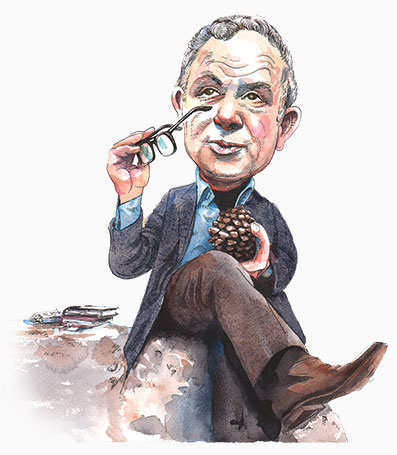 Drawing of Yehuda Amichai originally commissioned for the Jewish Review of Books.