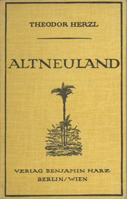"Book cover of Theodor Herzl's ""Altneuland""."