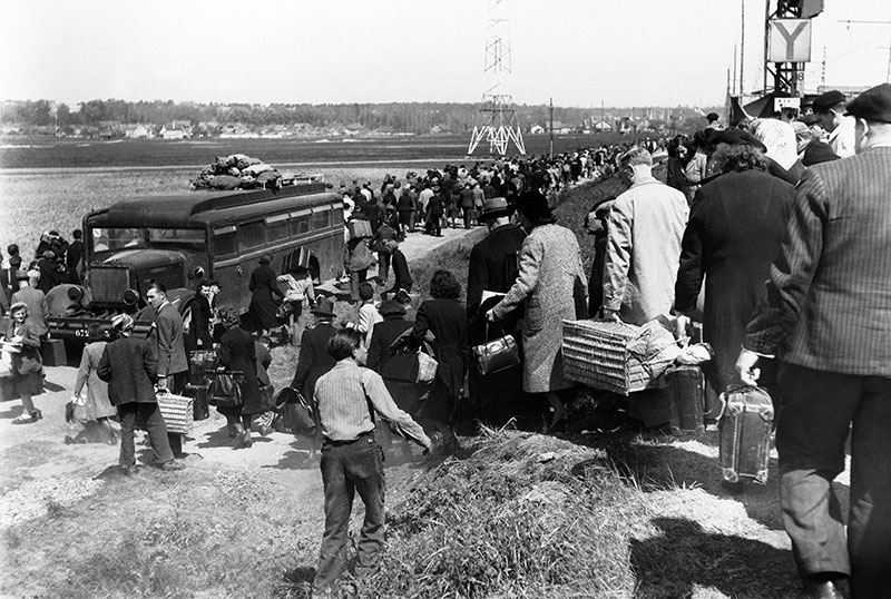 Photo of exodus of French Jews