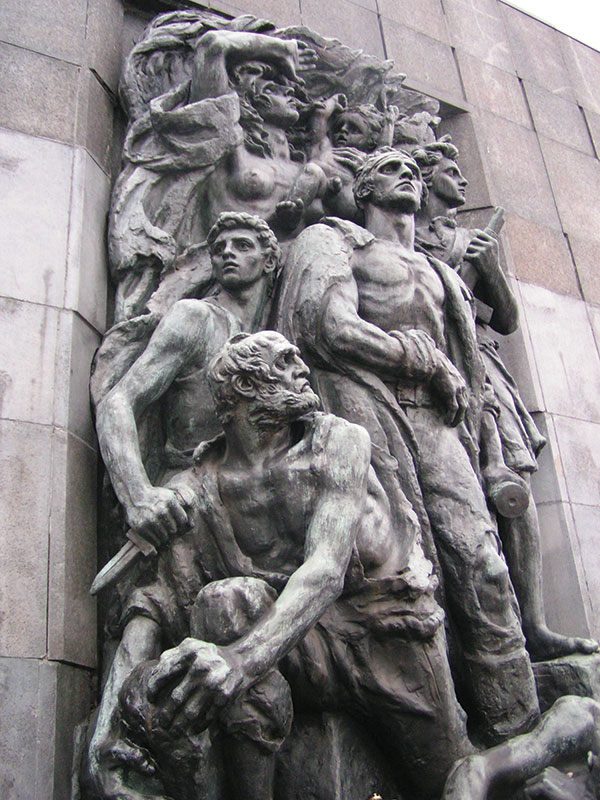 Statue of the heroes of the Warsaw Ghetto uprising