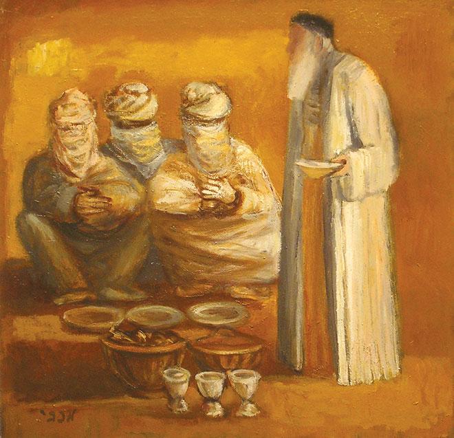 Painting of three strangers