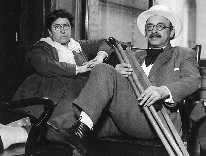 Photo of Emma Goldman and Alexander Berkman