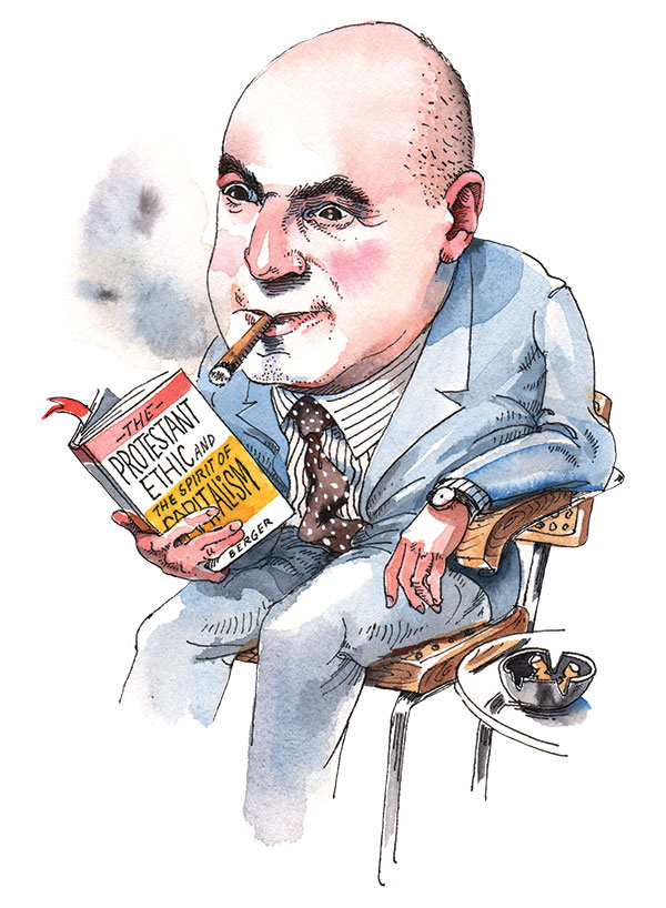 Illustration of Peter Berger
