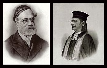 Nineteenth century photos of two rabbis shown side-by-side.