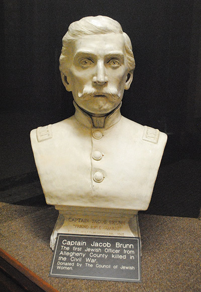 Bust of a Union soldier