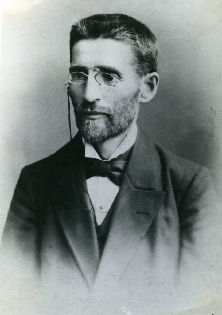 Black and white photograph of a man.
