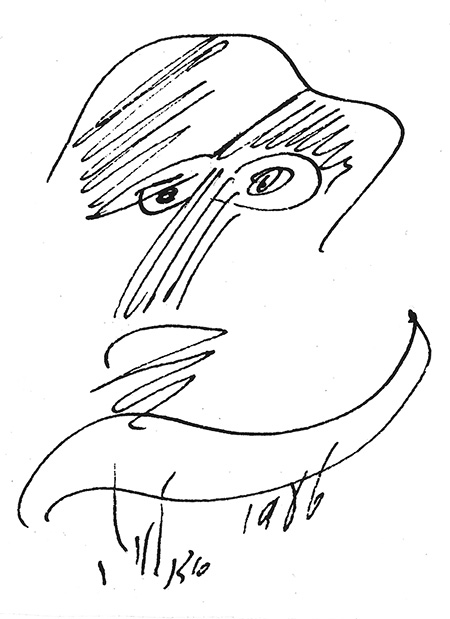 Abstract line drawing of a face