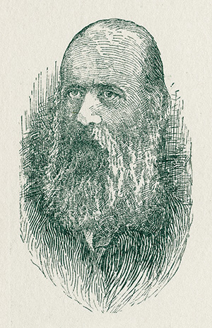Illustration of man with beard