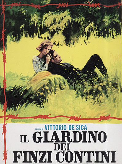 A poster for the film version of The Garden of the Finzi-Continis directed by Vittorio De Sica, 1970.