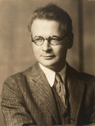 A young Horace Kallen, photographed by Nicholas Ház. (Boston Public Library.)