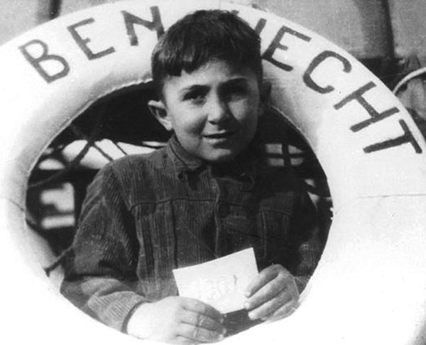 A young refugee aboard the SS Ben Hecht en route to Israel, 1947.