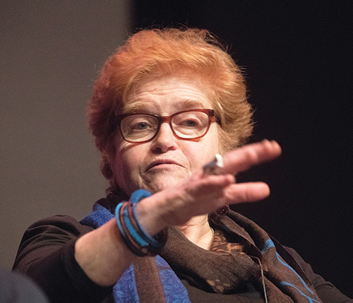 Deborah Lipstadt speaking at the 3rd Annual Jewish Review of Books Conference, January 2018, New York City. (Photo by Don Pollard.)