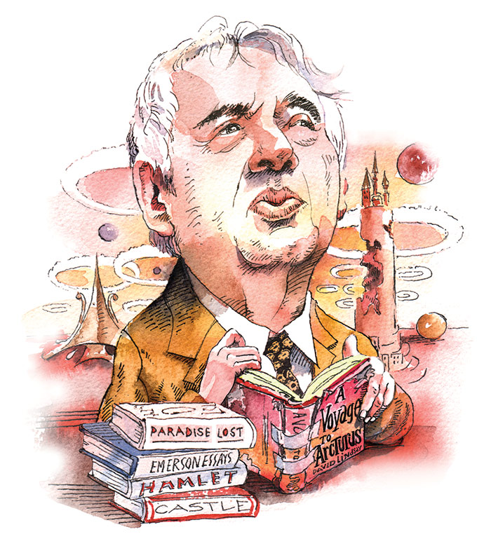 Harold Bloom. (Illustration by Mark Anderson.)