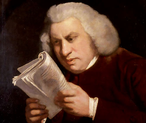 Samuel Johnson by Sir Joshua Reynolds, 1775. (Wikimedia.)