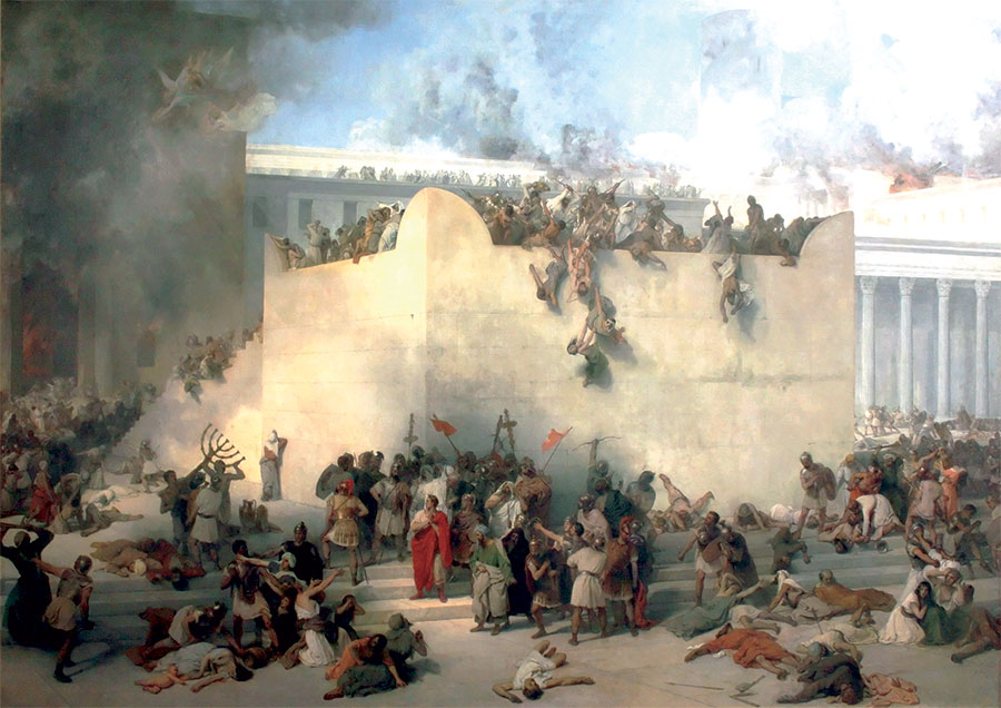 Destruction of the Temple of Jerusalem by Francesco Hayez, 1867. (Gallerie dell'Accademia, Venice.)