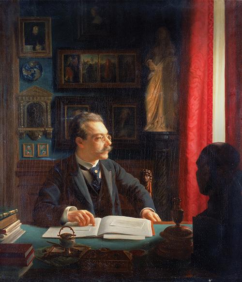 Portrait of James Simon by Willi Döring, 1901. (© Staatliche Museen zu Berlin, Gemäldegalerie/Volker H. Schneider.)