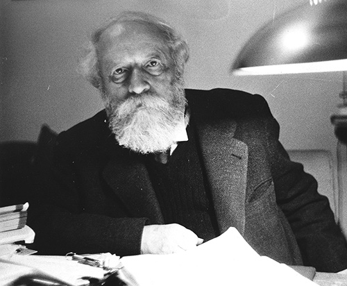 Martin Buber in an undated photo. (Courtesy of the Leo Baeck Institute.)