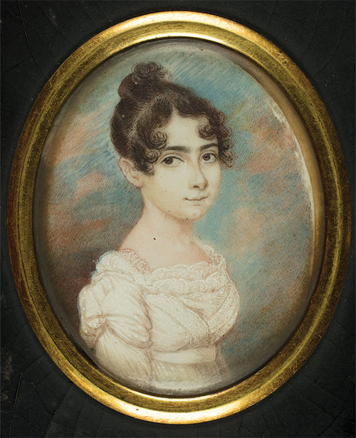 Portrait of Sarah Brandon Moses, Anonymous, ca. 1815–1816. (Courtesy of the American Jewish Historical Society.)