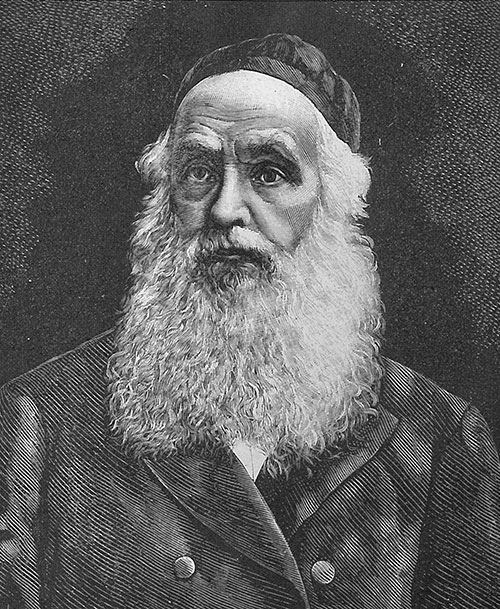 Portrait of Mattityahu Strashun. (Courtesy of the Lithuanian National Library, Judaica Research Center.)