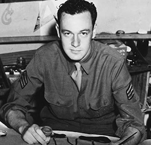 Stan Lee in the US Army during World War II, ca. 1942–1945. (RP Library/Alamy Photo.)