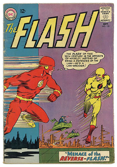 A 1963 cover of the comic book The Flash. (Courtesy of DC Comics.)