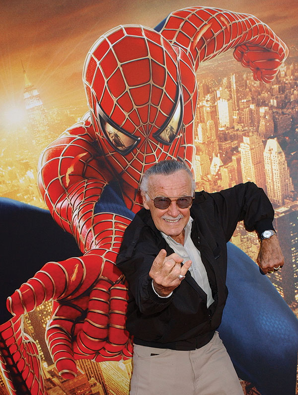 Stan Lee at the premiere of Spider-Man 2, Los Angeles, 2004. (Photo by Gregg DeGuire/WireImage.)