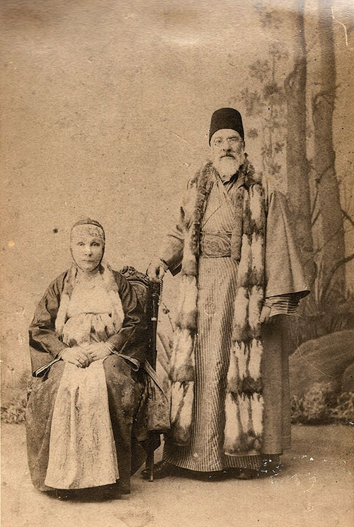Portrait of  Sa'adi Besalel Ashkenazi a-Levi and his first wife, ca. 1890s. (Leon Levy Family.)