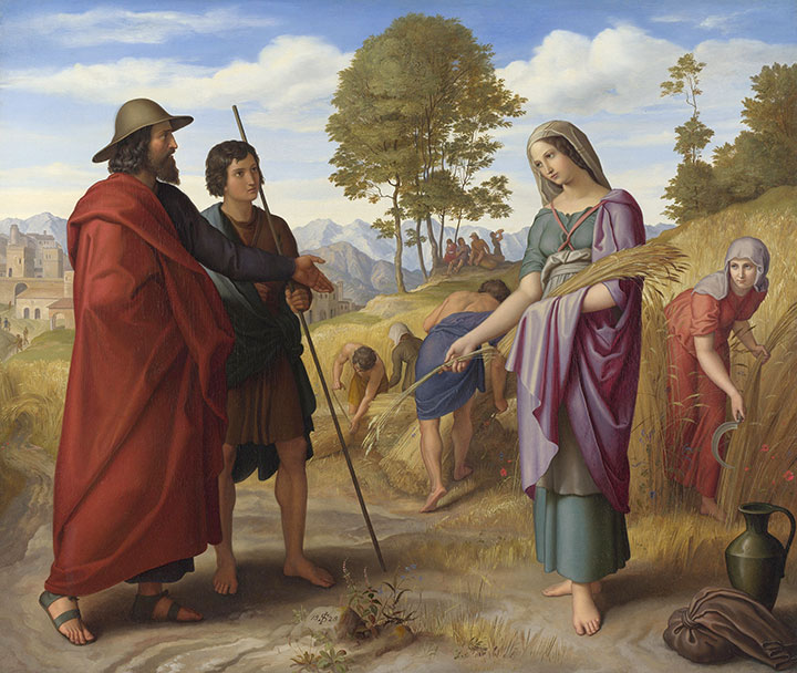 Ruth in Boaz's Field by Julius Schnorr von Carolsfeld, 1828. (National Gallery, London.)