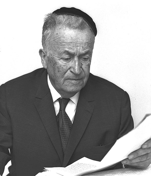 S.Y. Agnon at home, Jerusalem, 1966. (Courtesy of the National Photo Archives, Israel.)