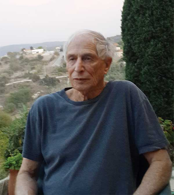 Hillel Halkin, on the porch of his home in Zikhron Yaakov. (Courtesy of Hillel Halkin.)