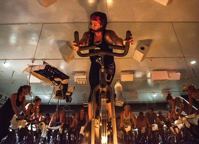 A SoulCycle class led by Abby Effron, Washington, D.C. (Photo by Yue Wu/The Washington Post via Getty Images.)